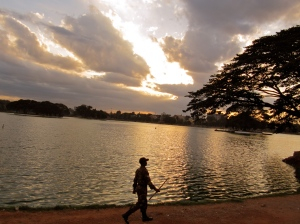 Ulsoor lake at sundown