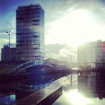Grand Canal Dock in Dublin after work