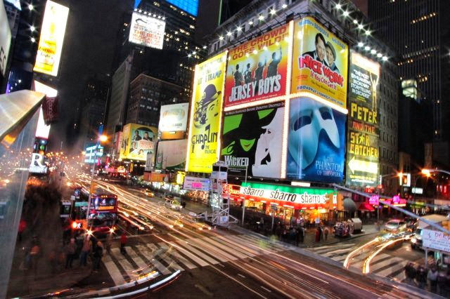 Times Square Long Exposure New York City
