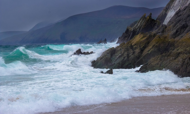 Stormy dingle beach