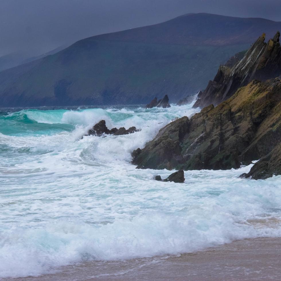 Stormy dingle beach